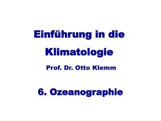 Einführung in die Klimatologie