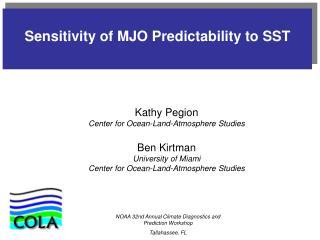 Sensitivity of MJO Predictability to SST
