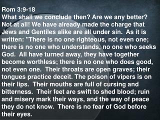Rom 3:9-18