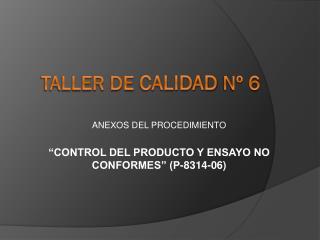 TALLER DE  CALIDAD  Nº 6