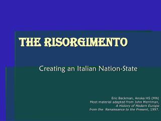 The Risorgimento