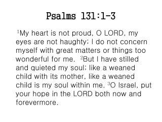 Psalms 131:1-3