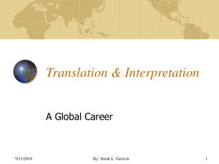Translation  Interpretation
