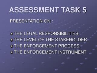 ASSESSMENT TASK 5