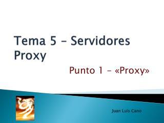 Tema  5  –  Servidores Proxy