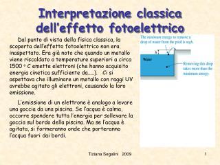 Interpretazione classica dell'effetto fotoelettrico