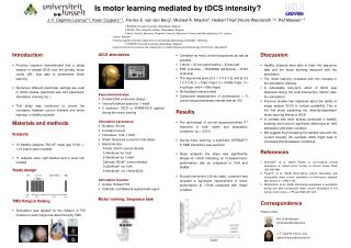 Is motor learning mediated by tDCS intensity?