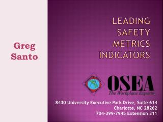 LEADING  SAFETY  METRICS INDICATORS