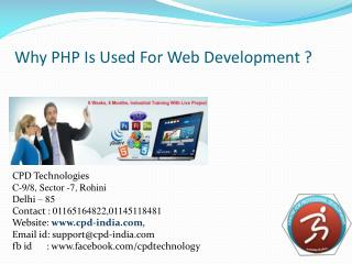 Why PHP Is Used For Web Development