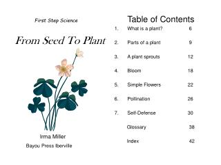 First Step Science From Seed To Plant