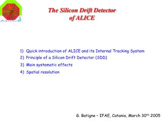 The Silicon Drift Detector of ALICE