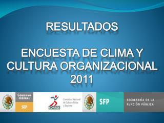 RESULTADOS ENCUESTA DE CLIMA Y CULTURA ORGANIZACIONAL  2011