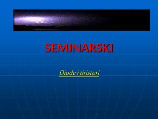 SEMINARSKI