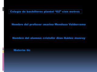 """Colegio de bachilleres plantel """"02"""" cien metros"""