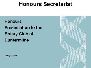 Honours Secretariat