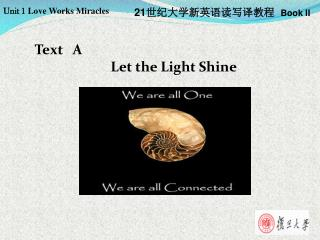 Text   A  Let the Light Shine