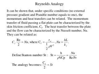 Reynolds Analogy