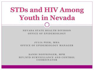 STDs and HIV Among Youth in Nevada
