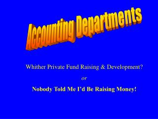 Accounting Departments