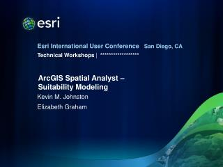ArcGIS Spatial Analyst –  Suitability Modeling