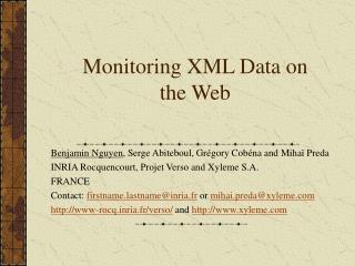 Monitoring XML Data on the Web