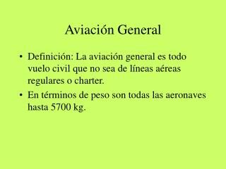 Aviación General
