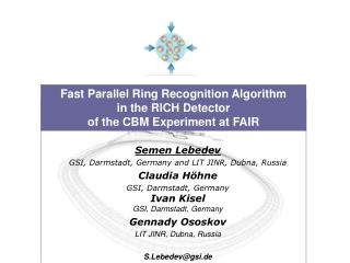 Fast Parallel Ring Recognition Algorithm  in the RICH Detector  of the CBM Experiment at FAIR