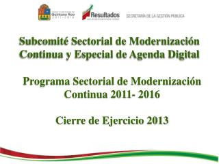 Subcomit� Sectorial de Modernizaci�n Continua y Especial de Agenda Digital