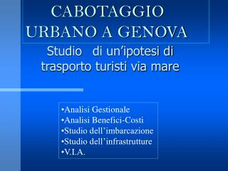 CABOTAGGIO URBANO A GENOVA