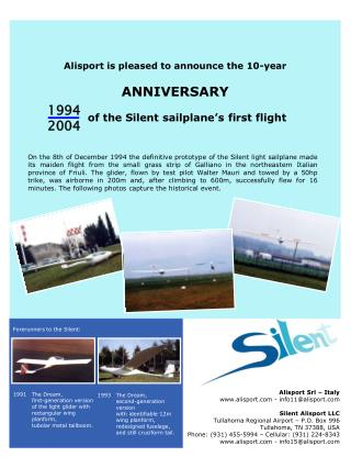 Alisport is pleased to announce the 10-year ANNIVERSARY
