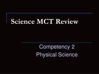 Science MCT Review