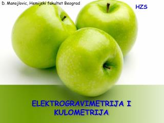 ELEKTROGRAVIMETRIJA I KULOMETRIJA