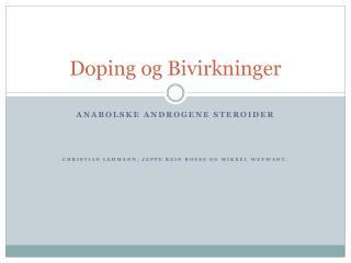 Doping og Bivirkninger