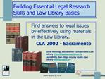 Building Essential Legal Research Skills and Law Library Basics