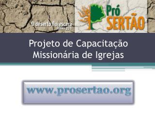 Projeto de Capacita��o Mission�ria de Igrejas