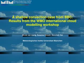 Meteorologisches Institut der Universitat Munchen