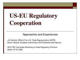 US-EU Regulatory Cooperation