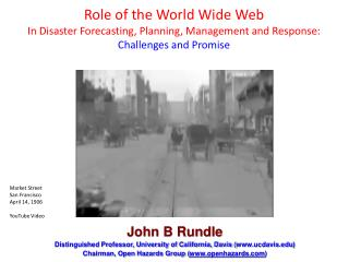 John B Rundle Distinguished Professor, University of California, Davis ( ucdavis )