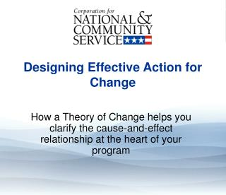Designing Effective Action for Change