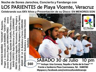 Noche de Sones Jarochos, Concierto y Fandango con LOS PARIENTES de Playa Vicente, Veracruz