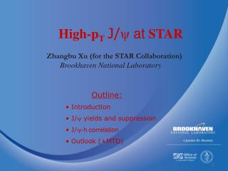 Zhangbu Xu (for the STAR Collaboration) Brookhaven National Laboratory