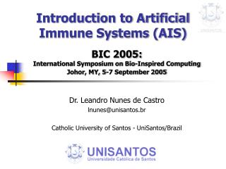Introduction to Artificial Immune Systems (AIS)