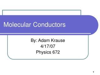 Molecular Conductors