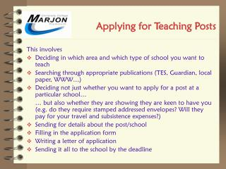 Applying for Teaching Posts