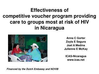 Anna C Gorter Zoyla E Segura Joel A Medina Julienne E  McKay  ICAS-Nicaragua icas