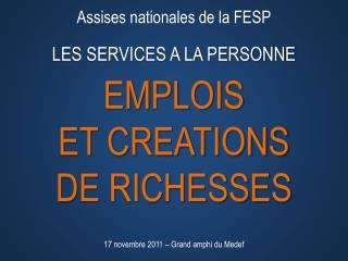 Assises nationales de la FESP