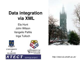 Data integration  via XML