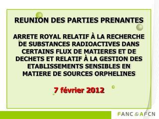 REUNION DES PARTIES PRENANTES