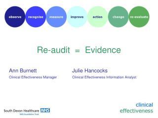 Re-audit  =  Evidence