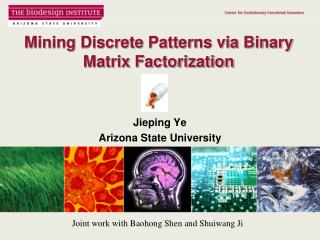 Mining Discrete Patterns via Binary  Matrix Factorization